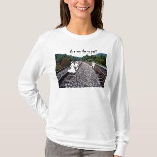Damen-langer Hülsen-T - Shirt - Geister auf