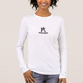 Damen-langes Hülsen-Stockenten-Shirt Langarm T-Shirt