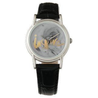 Damen Lederarmbanduhr Uhr Inspire