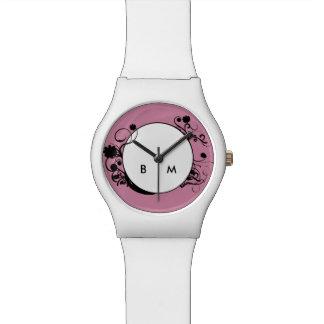 Damen-Monogramm-Art Uhr