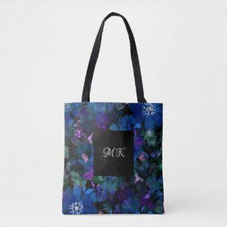 Damen-Monogramm-Blumenmuster Tasche