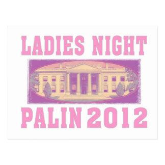 Damen-Nacht Palin 2012 Postkarte
