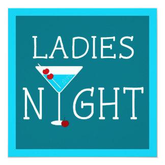 Damen-NachtJunggeselinnen-Abschieds-Einladung Quadratische 13,3 Cm Einladungskarte
