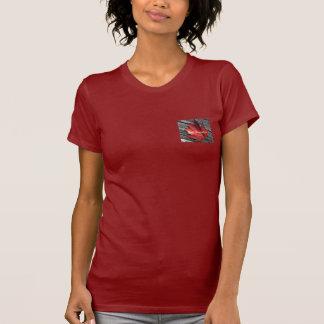 Damen-Petite roter November-T - Shirt