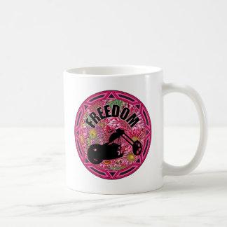 Damen-Radfahrer-Freiheit Kaffeetasse