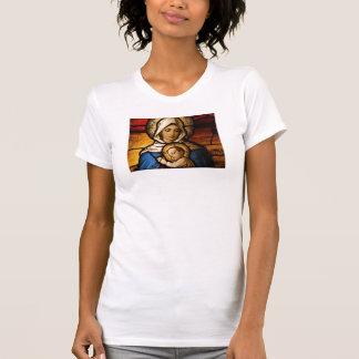 Damen segneten Jungfrau Mary und Baby-Jesus-Shirt T-Shirt