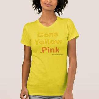 Damen-Shirt - gegangenes Yellow.Pink T-Shirt