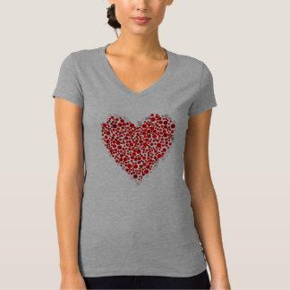 Damen Shirt-Valentinsgruß Herz T-Shirt