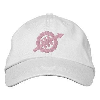 Damen stickten WEVO Logo-justierbaren Hut - Rosa Bestickte Mütze