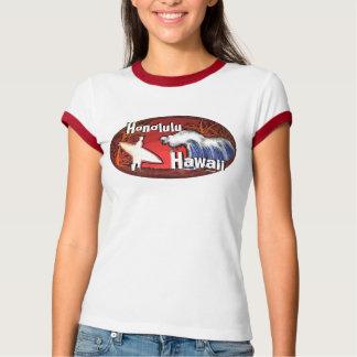 Damen-Surfer Honolulus Hawaii bewegt T-Shirt