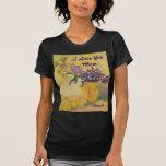 Damen-T - Shirt-Liebe-Mamma-Gelb-Vase