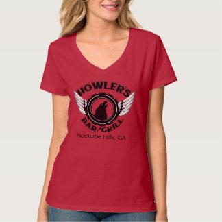 Damen-Vhals-T-Stück T-Shirt