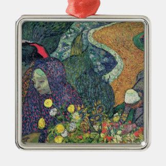 Damen Vincent van Goghs | von Arles, 1888 Quadratisches Silberfarbenes Ornament
