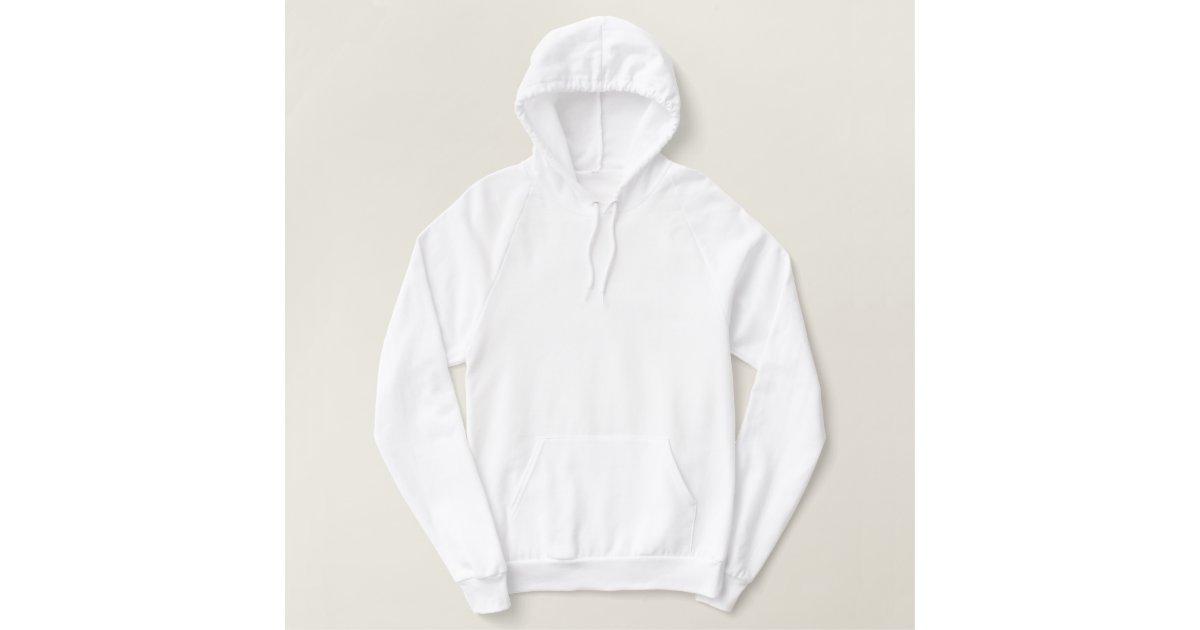 damen wei er pullover fleecehoodie hoodie zazzle. Black Bedroom Furniture Sets. Home Design Ideas