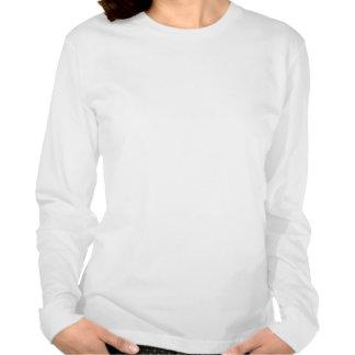 Damen weißes langärmliges STUMPF Logo-T-Stück T Shirt