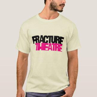 Damen zerbrechen eingebranntes T-Stück T-Shirt