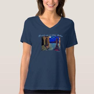 Damen zweigen mit Originalvorlage-Druck ab T-Shirt