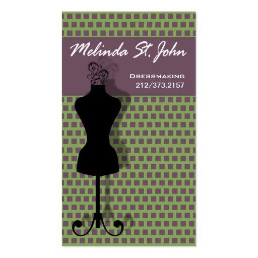 Damenschneiderin-Mannequin-nähender Modedesigner Visitenkartenvorlagen