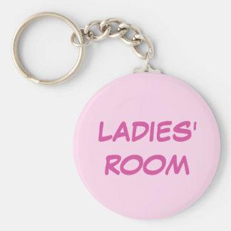 Damentoilette rosa keychain standard runder schlüsselanhänger