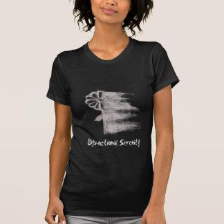 Damenverblaßte dysfunktionelle Serenity-Blume T-Shirt