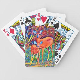 Damhirschkuh und Kitz Bicycle Spielkarten