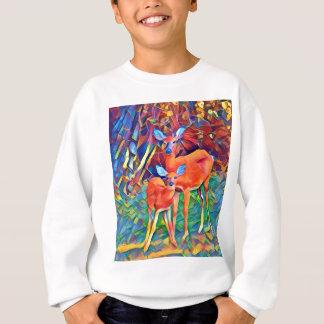 Damhirschkuh und Kitz Sweatshirt