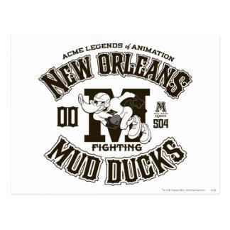 DÄMLICHER DUCK™ New Orleans Schlamm duckt Logo 2 Postkarte