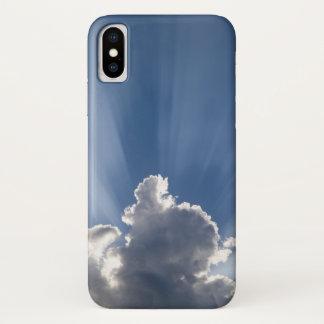 Dämmeriger oder Strahlnstreifen des Gottes hinter iPhone X Hülle