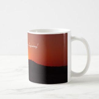 Dämmerung des neuen Anfanges Kaffeetasse