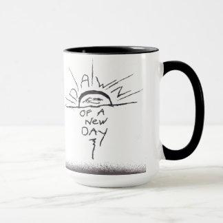 Dämmerung einer neuen Tageskaffee-Tasse Tasse