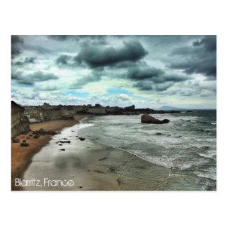 """""""Dämmerung steigt auf Biarritz """" ab Postkarte"""
