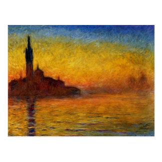 Dämmerung, Venedig durch Claude Monet Postkarte