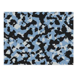 Dämmerungs-Blau - Gletscher-grauer Tarnungs-Druck Postkarte