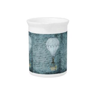 Dämmerungs-blaue Heißluft-Ballon Steampunk Krug