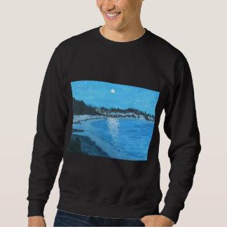 Dämmerungs-Reflexionen im Blau Sweatshirt