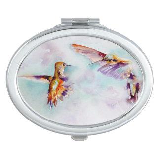 Dämmerungs-Tänzer-Kolibri-Druck Taschenspiegel