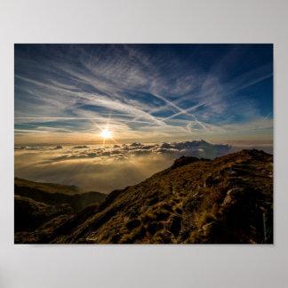 Dawn Sun Mountain Landscape
