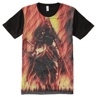 Dämon-Samurai-Fantasie-Kunst T-Shirt Mit Komplett Bedruckbarer Vorderseite