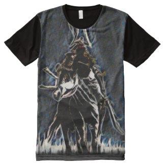 Dämon-Samurai-Geist-Fantasie-Kunst T-Shirt Mit Komplett Bedruckbarer Vorderseite
