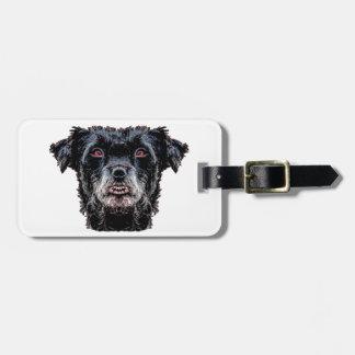 Dämon-schwarzer Hundekopf Gepäckanhänger