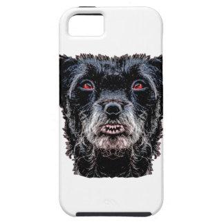 Dämon-schwarzer Hundekopf iPhone 5 Etui