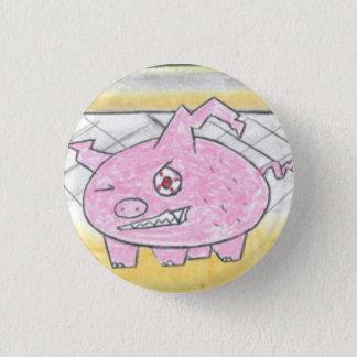Dämon-Schwein Runder Button 2,5 Cm