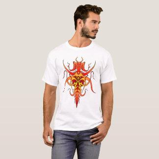 Dämon-Stammes- Tätowierung - Rot und Gelb T-Shirt