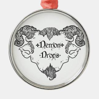 Dämon-Tropfen Silbernes Ornament