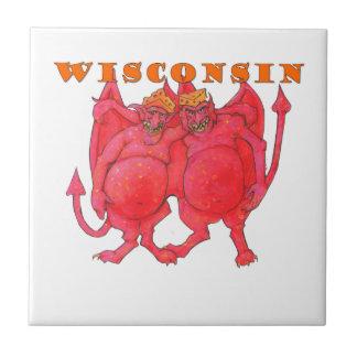 Dämonen Wisconsins Cheesehead Keramikfliese