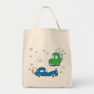 Dampf-Autos - Lebensmittelgeschäft-Tasche