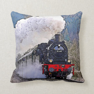 Dampf der Lokomotive2. im Schnee Kissen