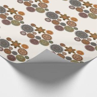 Dampf-Eleganz-gemischte Medien Steapunk Geschenkpapierrolle