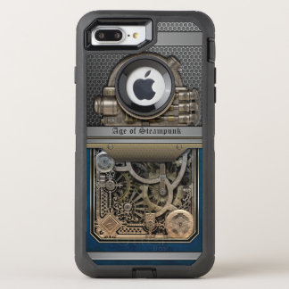 Dampf Engine.Age von Steampunk. OtterBox Defender iPhone 8 Plus/7 Plus Hülle