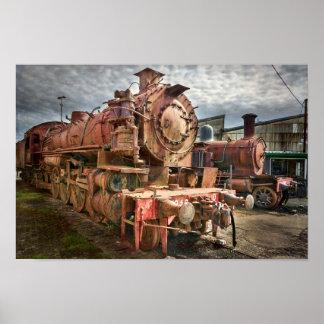 Dampf-Lokomotive Poster